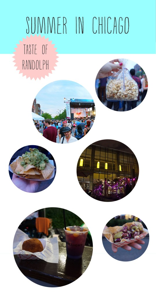 Taste of Randolph Chicago collage